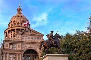 Texas Ranger Statue in front of Capitol Building